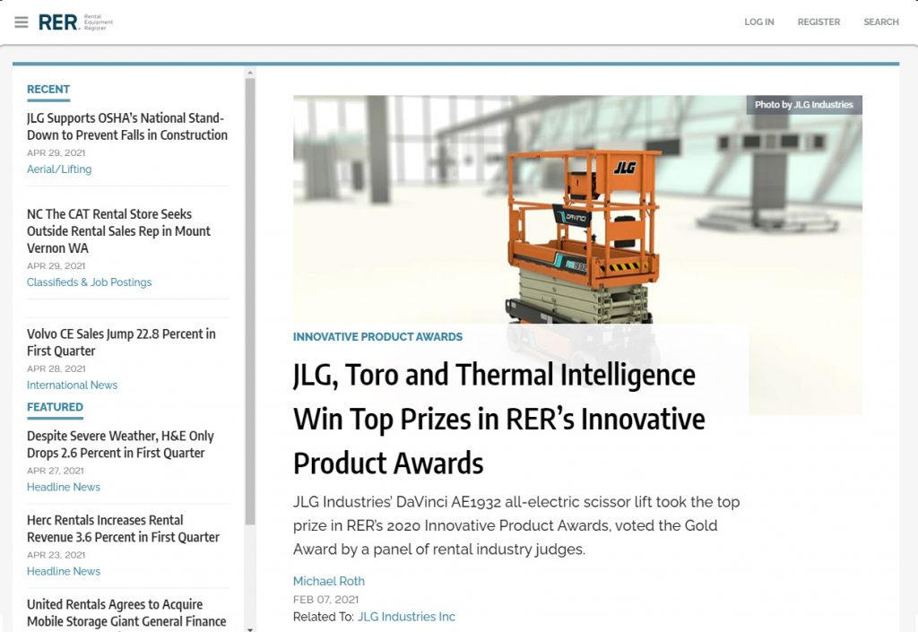 Thermal Intelligence Win Top Prizes in RER's Innovative Product Awards