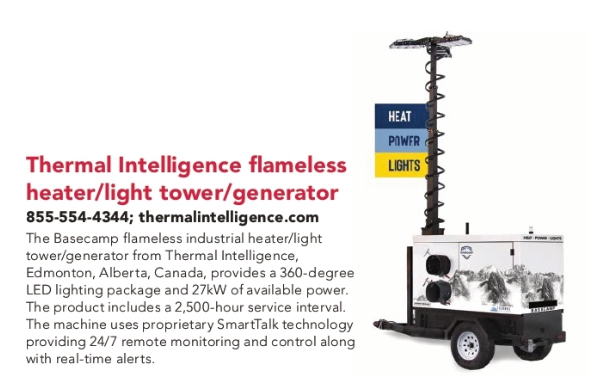Thermal Intelligence flameless heater/light tower/generator